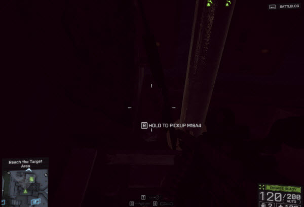 Weapon M16A4 location in mission 4 BattleField 4