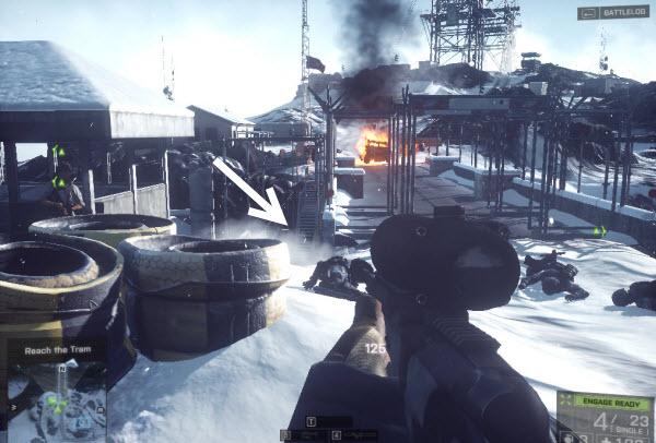 Weapon 338-Recon location in mission 5 BattleField 4