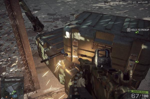 Weapon EAK - 971 location in mission 6 BattleField 4