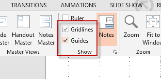 toggling gridlines on and off in PowerPoint