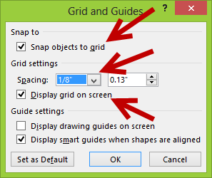 Enable snap to grid feature in PowerPoint