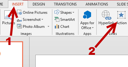 PowerPoint Insert Action