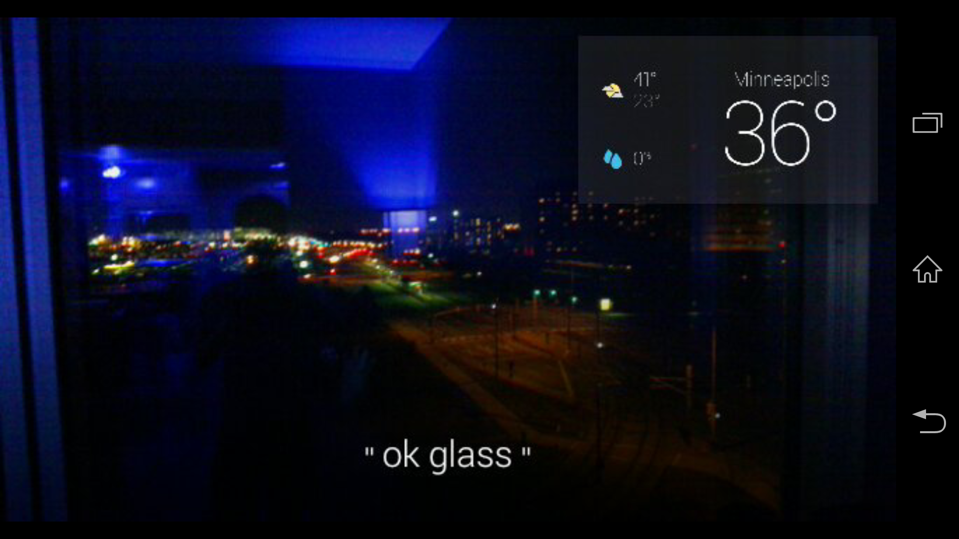 Google Glass Take A Screenshot Or Vignette Photo With Camera With