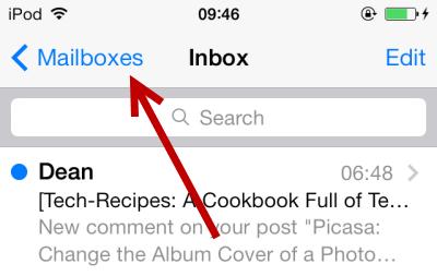 iOS 7 Mailboxes