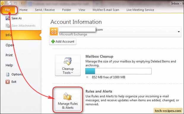 Microsoft Outlook New Mail Desktop Alert For Subfolders