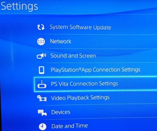 PSVita-PS4-connection