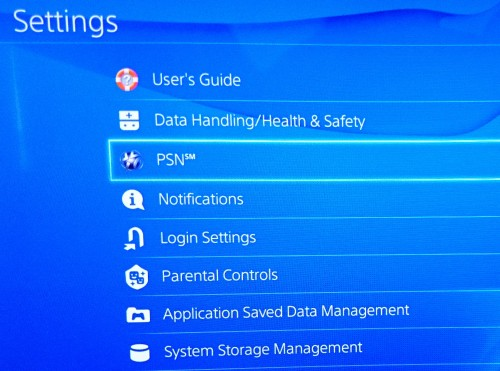 Settings-PSN