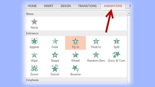powerpoint change animation feature