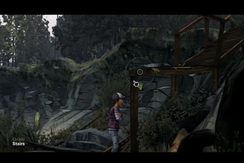 help Clementine climb up the stair