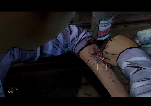 how to sew the wound for Clementine