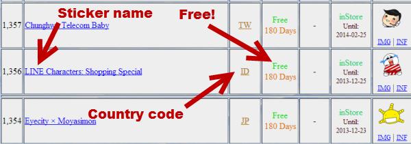 get Line free stickers