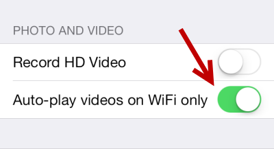 iOS Facebook Auto-Play videos on Wifi only