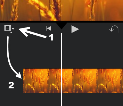 add media files to iMovie project