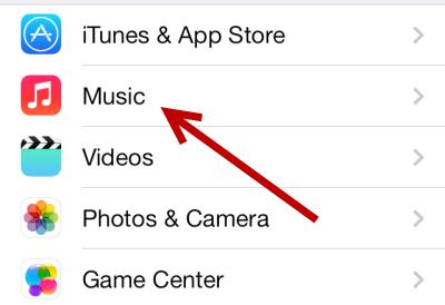 iOS Music Settings