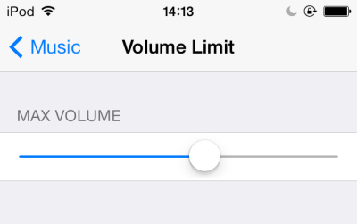 iOS maximum volume limit