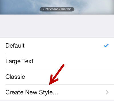 create new subtitle font style in iOS