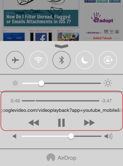 play YouTube video in background in iOS