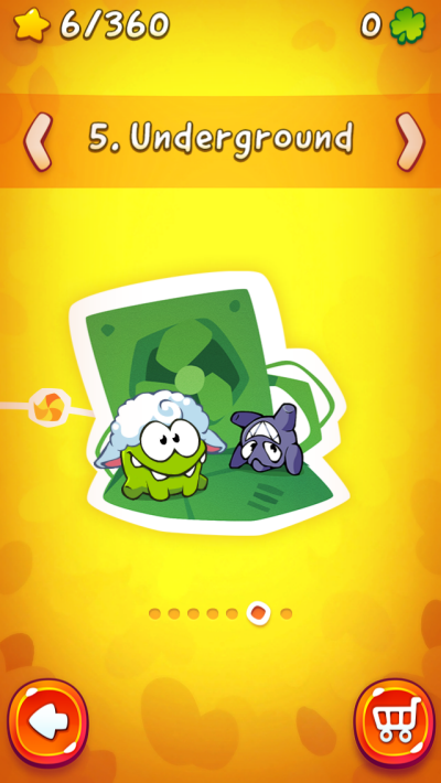 Cut the Rope 2 all stages unlocked