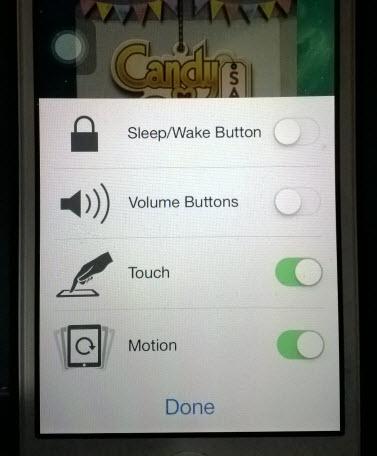 iOS disable sleep wake volume button touch motion