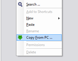 copy files from computer to iOS devices