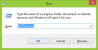 windows 8 store cache reset