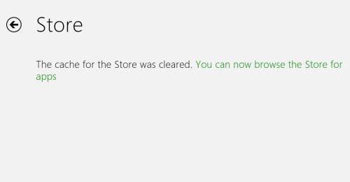 windows 8 store cache reset