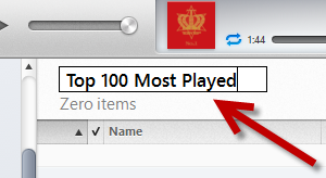rename an iTunes playlist