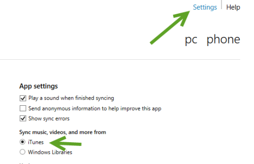 sync iTunes with Windows Phone 8