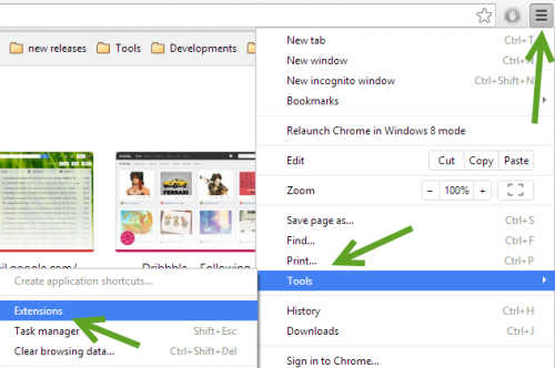 install Chrome extensions
