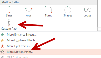create custom path in powerpoint