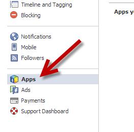 Facebook Apps Settings