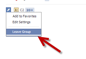 leave Facebook groups