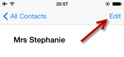 edit contact detail in iOS