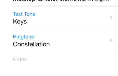set different ringtone for contacts in iOS