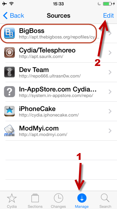 add new source in Cydia