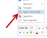 feature search with google option in office