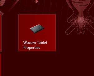launch Wacom Tablet Properties
