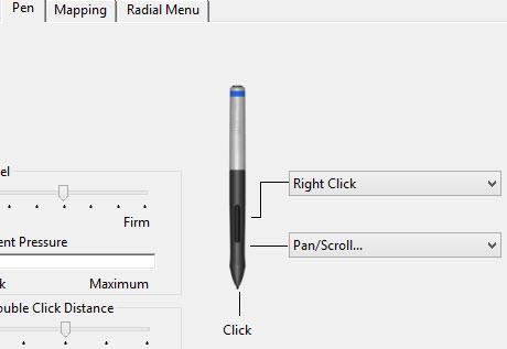 configure Wacom tablet pen buttons