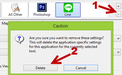 delete program profiles from Wacom configuration