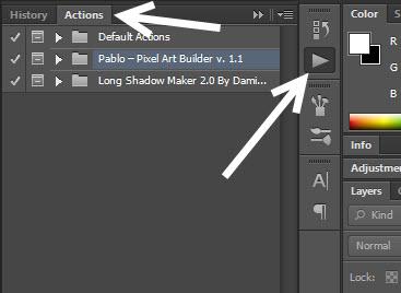 Photoshop Actions palette