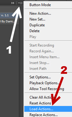load actions into Photoshop