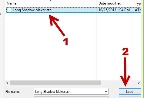 load import actions into Photoshop