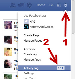 access Facebook Activity Log