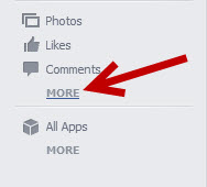 access Facebook search history