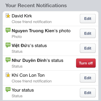 unfollow Facebook posts notifications on Android iPhone iPad