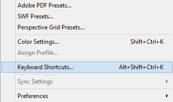 access Illustrator Keyboard Shortcuts
