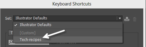 change Illustrator keyboard shortcuts set