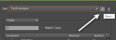 export Illustrator shortcuts set