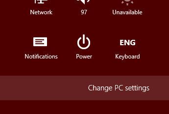 Windows 8 PC settings