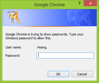 view Google Chrome protected password